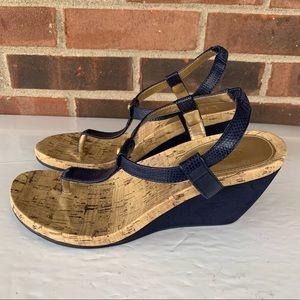 Chaps thong wedge sandals